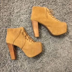 Jeffrey Campbell Tan Leather Lita's